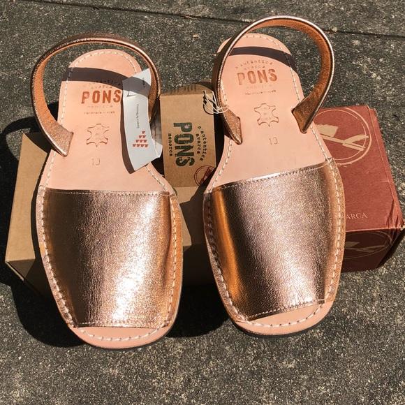 9cd86761b87f Pons Avarcas Spanish Sandals size 10 rose gold